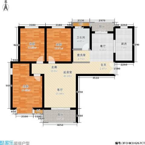大地凤凰城3室0厅1卫1厨120.00㎡户型图