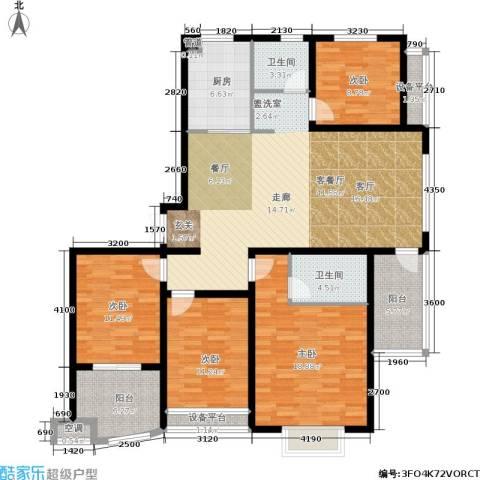 清流水韵4室1厅2卫1厨140.00㎡户型图