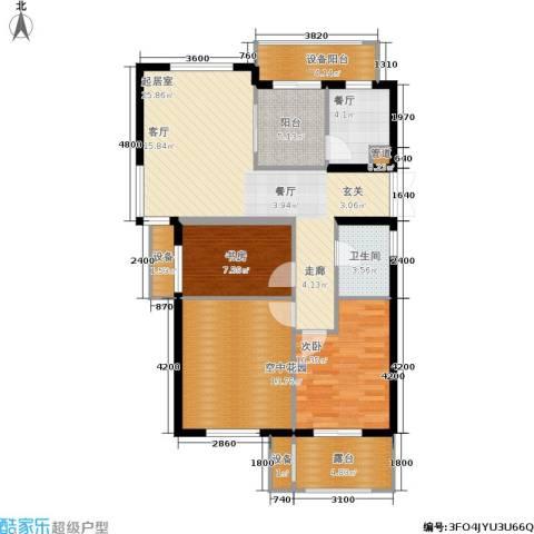 米兰风景2室1厅1卫0厨89.00㎡户型图