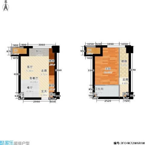 金达利21码头1室1厅1卫0厨39.88㎡户型图