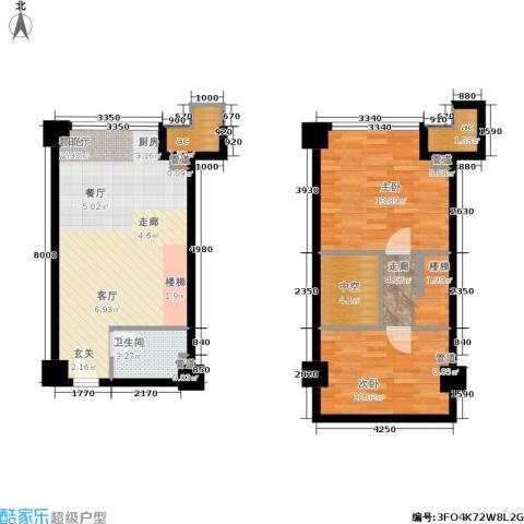 金达利21码头2室1厅1卫0厨64.97㎡户型图