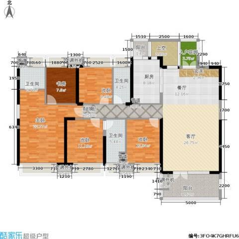 中航公元5室1厅3卫1厨214.00㎡户型图
