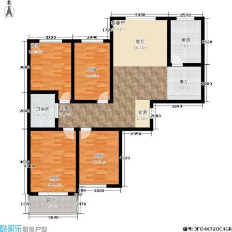 居然嘉园4室1厅1卫1厨162.00㎡户型图