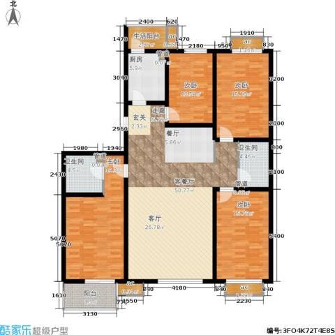 桐城中央4室1厅2卫1厨195.00㎡户型图