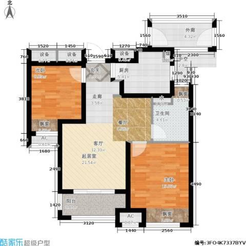 万科城2室0厅1卫1厨78.00㎡户型图