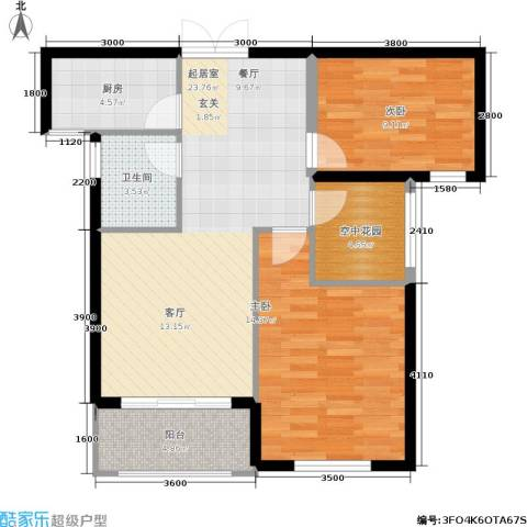 红树湾2室0厅1卫1厨92.00㎡户型图