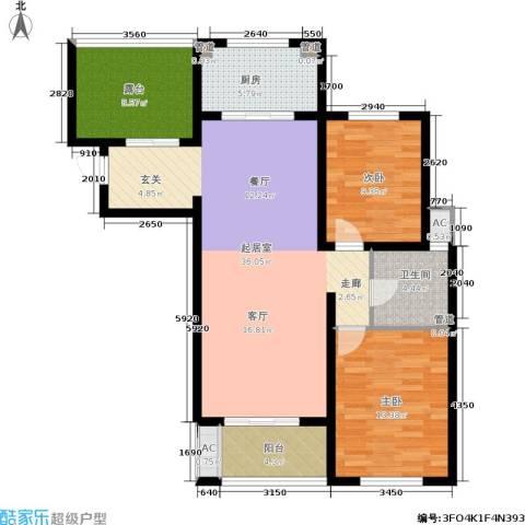 景栊湾(售罄)2室0厅1卫1厨103.00㎡户型图