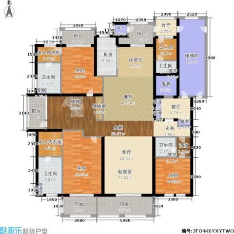 大美城翠园3室0厅4卫1厨464.00㎡户型图