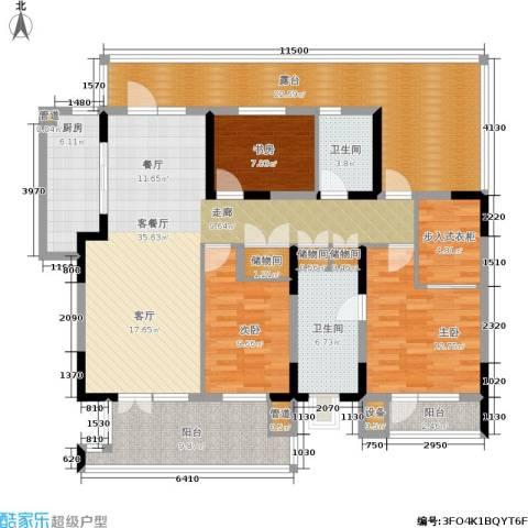 晋中万科・朗润园3室1厅2卫1厨146.00㎡户型图