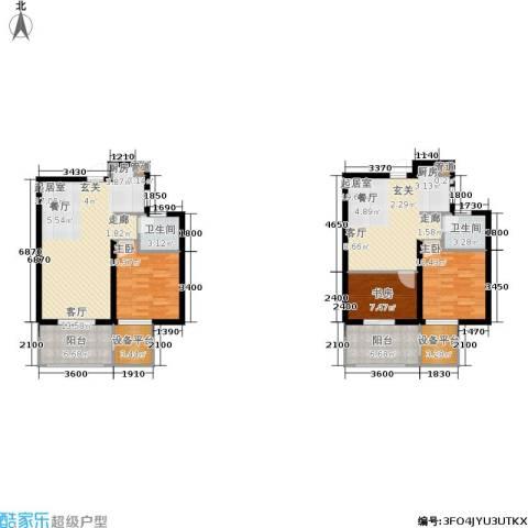 米兰风景3室0厅2卫0厨101.78㎡户型图