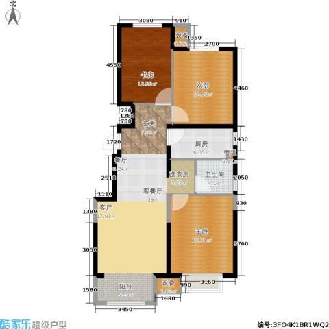 晋中万科・朗润园3室1厅1卫1厨106.00㎡户型图