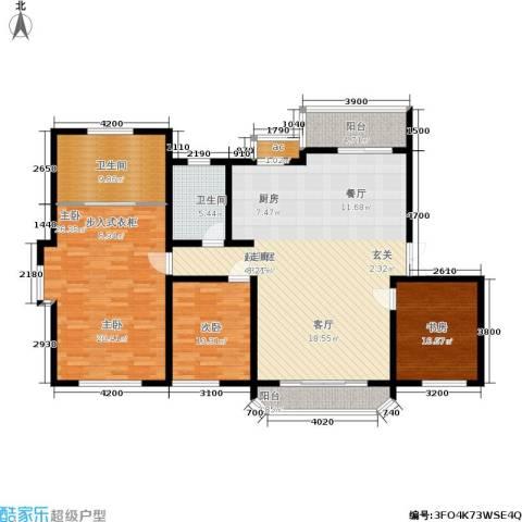 当代传奇3室0厅2卫0厨160.00㎡户型图