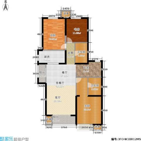 晋中万科・朗润园3室1厅2卫1厨140.00㎡户型图