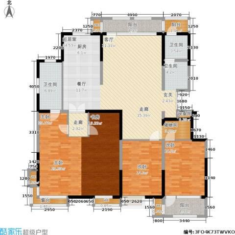 彩凤山城观邸3室0厅2卫0厨184.00㎡户型图