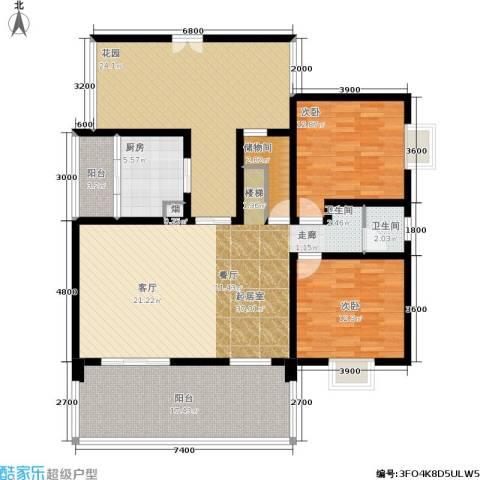 嘉来涪滨印象2室0厅1卫1厨221.00㎡户型图