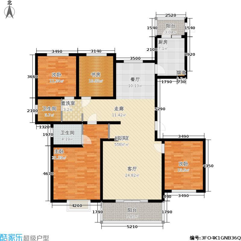 西城名邸158.54㎡7#、8#楼C2户型