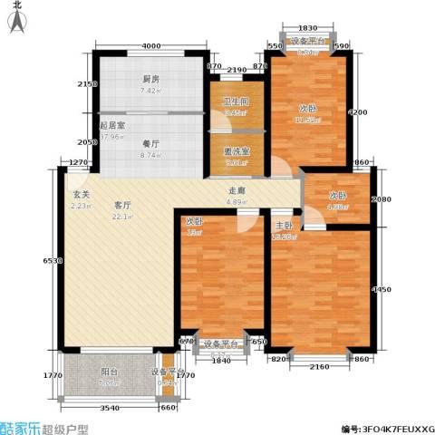 珍贝金鼎国际4室0厅1卫1厨125.00㎡户型图