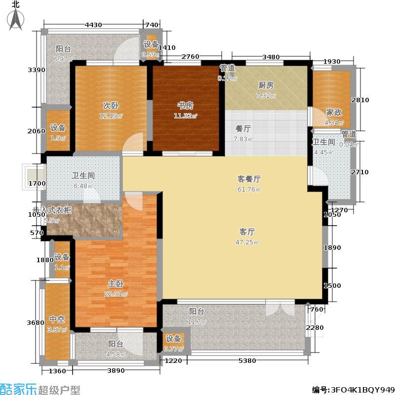 晋中万科朗润园177.00㎡晋中万科・朗润园A4户型