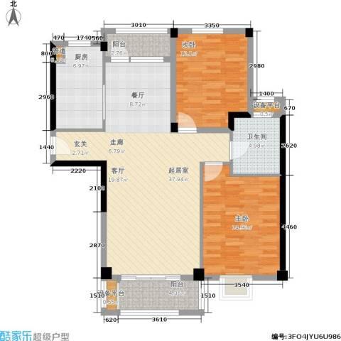 珍贝金鼎国际2室0厅1卫1厨97.00㎡户型图