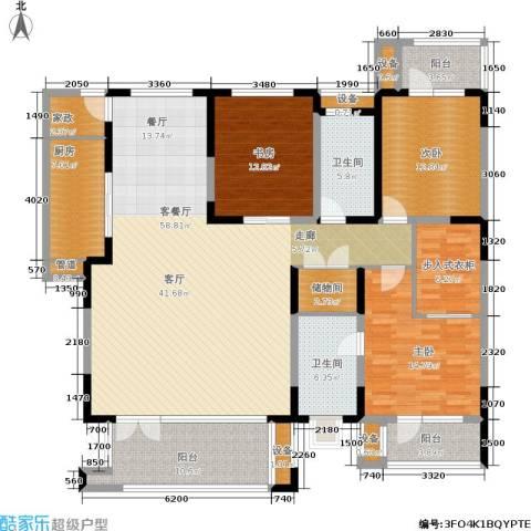 晋中万科・朗润园3室1厅2卫1厨174.00㎡户型图