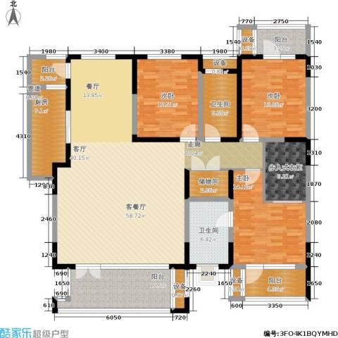 晋中万科・朗润园3室1厅2卫1厨173.00㎡户型图