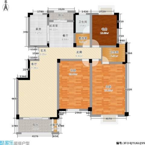 珍贝金鼎国际3室0厅2卫1厨148.00㎡户型图
