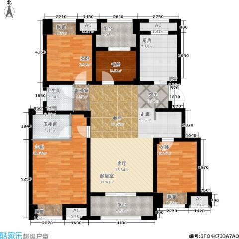 万科城4室0厅2卫1厨131.00㎡户型图