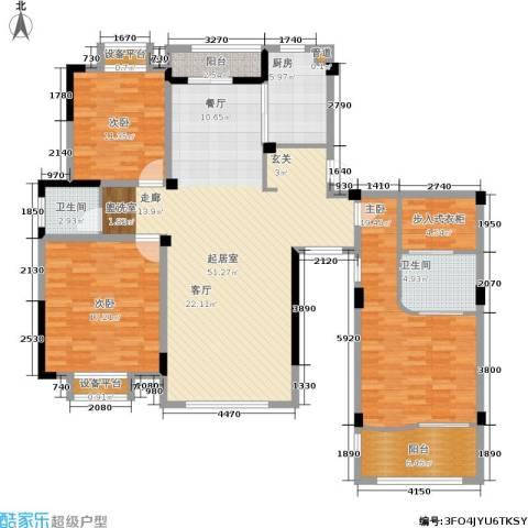 珍贝金鼎国际3室0厅2卫1厨147.00㎡户型图