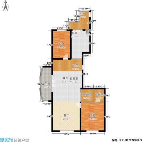 畅心园2室0厅2卫1厨135.00㎡户型图