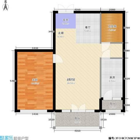 畅心园1室0厅1卫1厨81.00㎡户型图