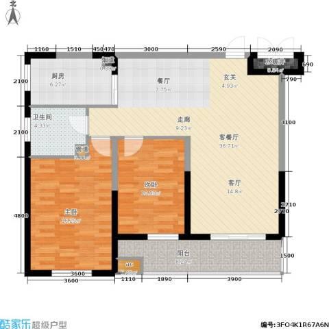 上城上林苑2室1厅1卫1厨119.00㎡户型图