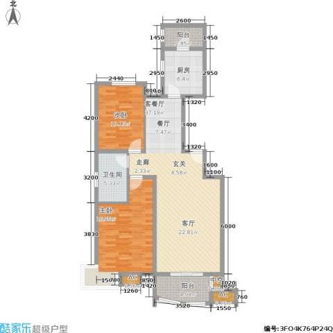 兴蒙时代广场2室1厅1卫1厨98.57㎡户型图