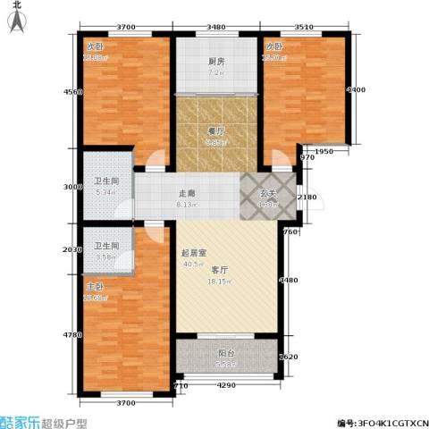 御林佳苑3室0厅2卫1厨158.00㎡户型图