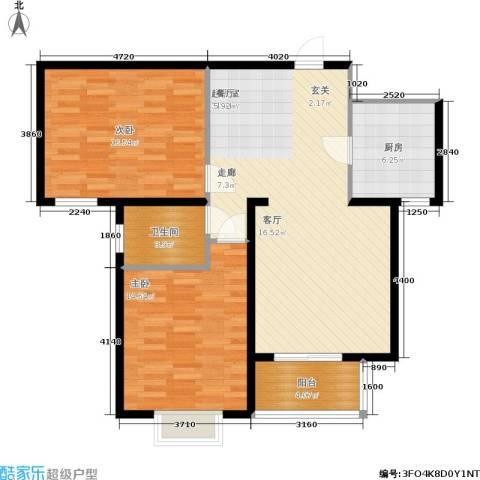 丛台花园2室0厅1卫1厨108.00㎡户型图