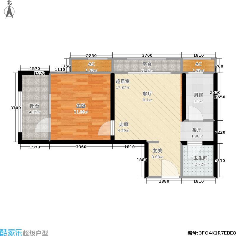 西溪诚园2号楼标准层A2户型