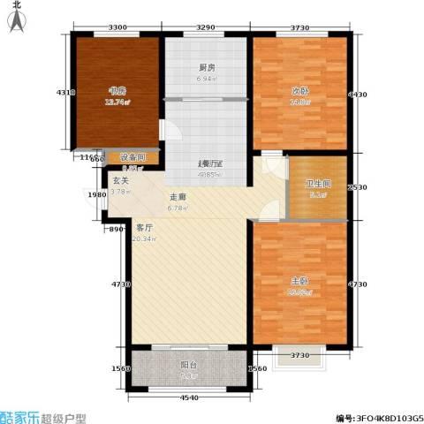 丛台花园3室0厅1卫1厨144.00㎡户型图