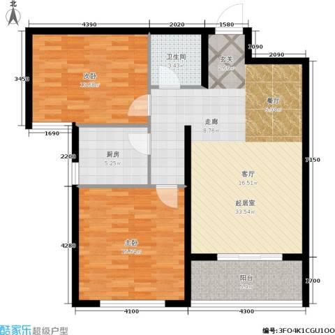 御林佳苑2室0厅1卫1厨109.00㎡户型图