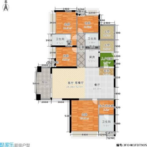 中航公元4室1厅3卫1厨153.64㎡户型图