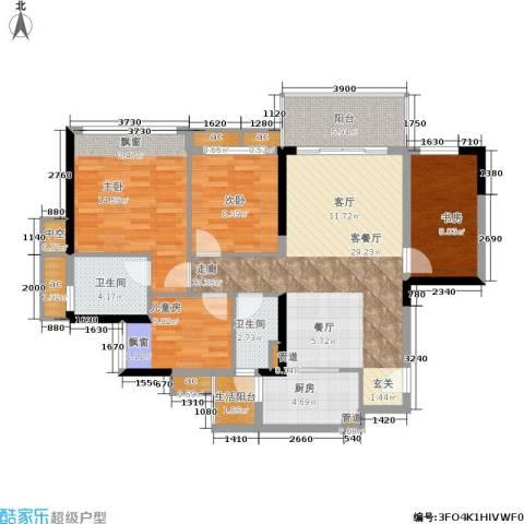 幸福码头4室1厅2卫1厨104.00㎡户型图