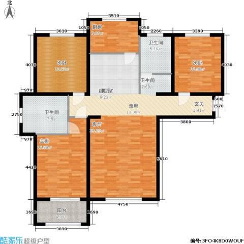 丛台花园3室0厅2卫1厨162.00㎡户型图