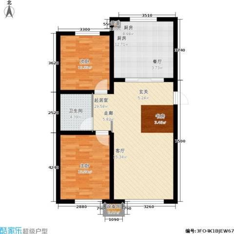 香榭丽花园2室0厅1卫1厨99.00㎡户型图