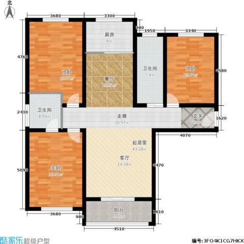 御林佳苑3室0厅2卫1厨161.00㎡户型图