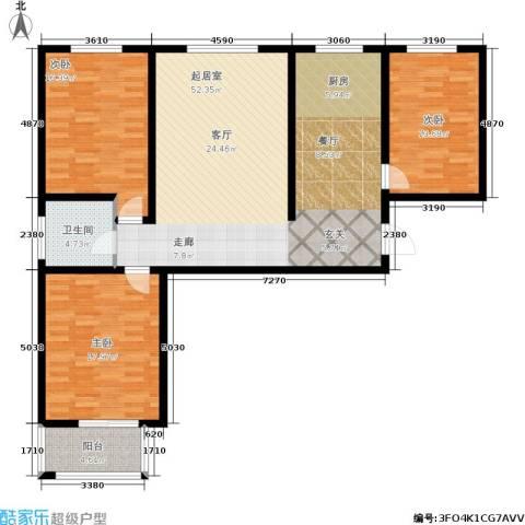 御林佳苑3室0厅1卫0厨154.00㎡户型图