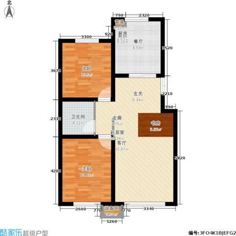 香榭丽花园2室0厅1卫1厨94.00㎡户型图