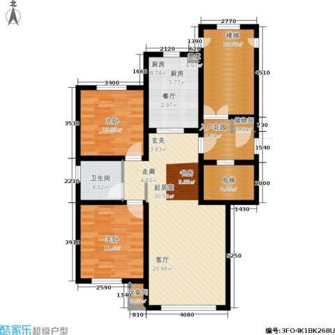 香榭丽花园2室0厅1卫1厨125.00㎡户型图