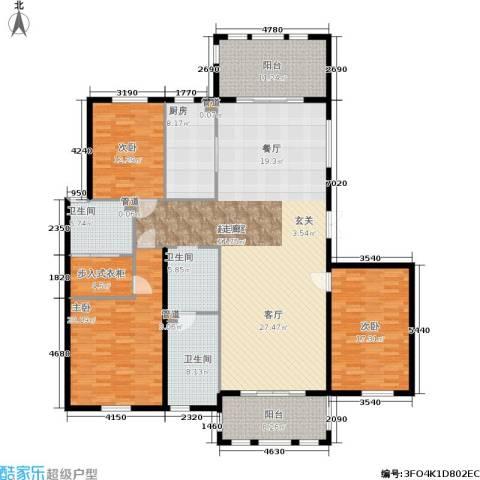三川御锦台3室0厅2卫1厨183.00㎡户型图
