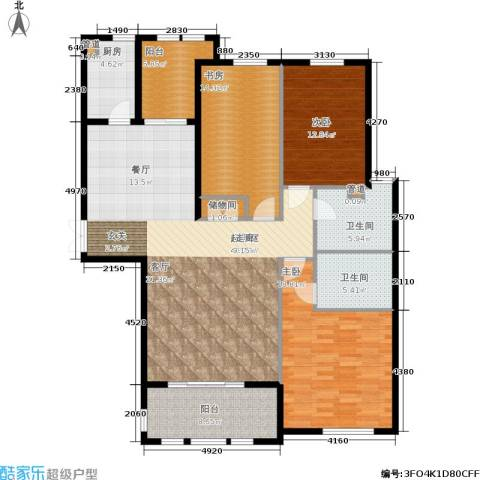 三川御锦台3室0厅2卫1厨141.00㎡户型图