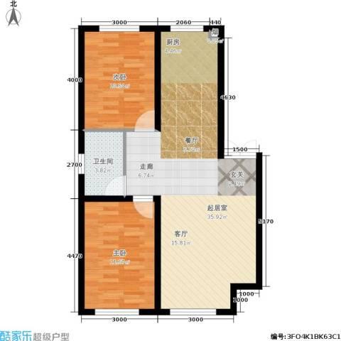 盛世华庭2室0厅1卫0厨87.00㎡户型图