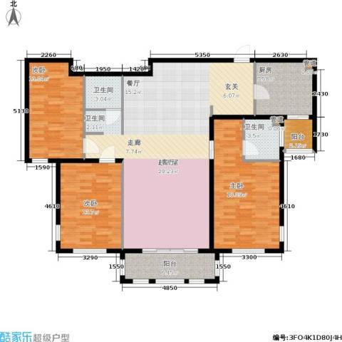 三川御锦台3室0厅2卫1厨135.00㎡户型图