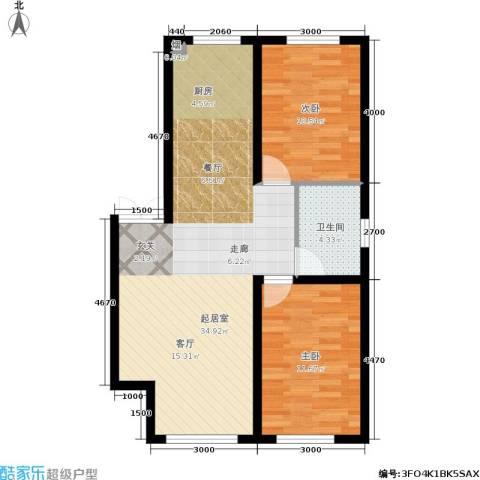 盛世华庭2室0厅1卫0厨86.00㎡户型图